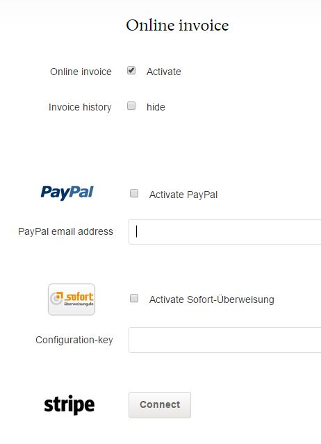 How To Let Invoices Be Paid Via Webpayments FastBill Support - Invoice to be paid